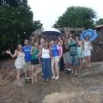 Grupo de jovens da igreja Messiânica visita a Casa Orgânica.